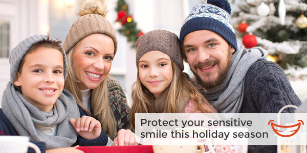 family protecting themselves from winter tooth sensitivity